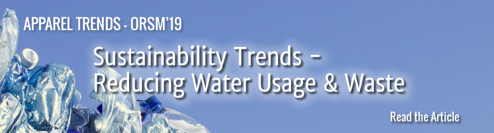 ORSM '19 - Sustainability Trends - Reducing Water Usage & Waste